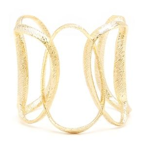 Ted Baker Gold Textured Hoop Tamii Cuff